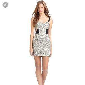Rebecca Minkoff Gray Lori Ponte Knit Cutout Dress